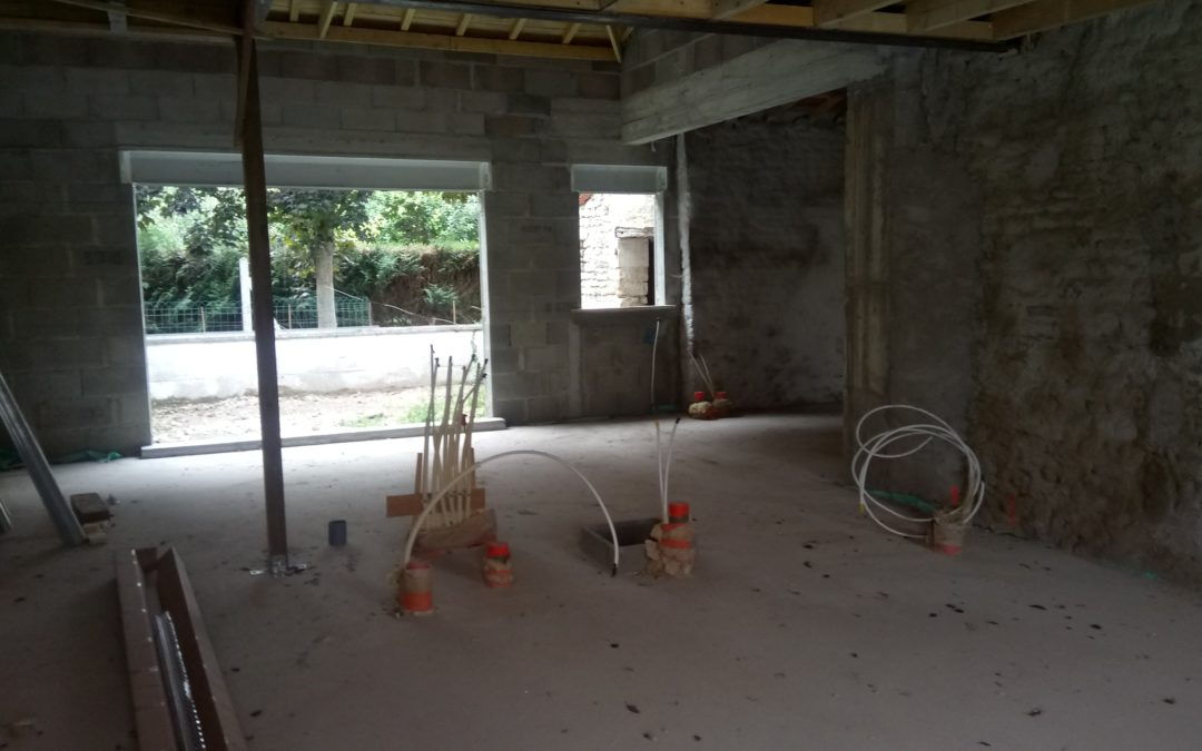 Futur maison d habitation ,électricité, chauffage , sanitaire